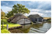 Hickling Boathouses, Print
