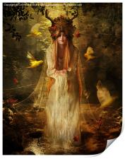 Lady of the Forest, Print