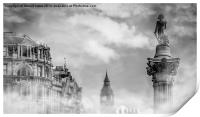 Nelsons Column Time is everything, Print