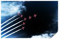 Red Arrows Swan 1 Formation, Print