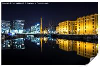 Canning Dock clear night, Print
