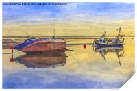 Boats in the morning, Print