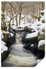 Winter In Padley Gorge, Print