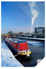 Sheffield Canal at Victoria Quays, Print
