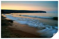 Sunset over Swanage Bay, Dorset, Print