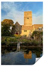 St Marys Church & Mill Pond, Swanage, Print