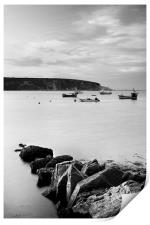 Swanage Bay in Mono, Print