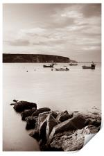 Swanage Bay in Sepia, Print