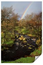 Rainbow over Burbage Brook, Print