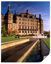 Sheffield Town Hall & Peace Gardens, Print