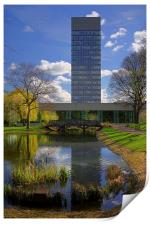 University Arts Tower & Weston Park Pond, Print