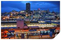 Sheffield City Centre at Night, Print
