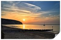 Swanage Bay Sunrise, Print