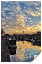 Sheffield Canal Sunset, Print