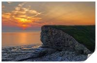 Nash Point Sunset , Print