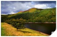 Ladybower Reservoir and Whinstone Lea Tor , Print