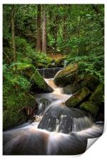 Wyming Brook Cascading Falls, Print