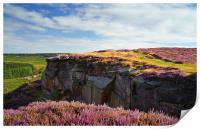 View along Burbage Rocks and Valley , Print