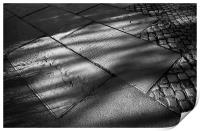 St Mary's Gravestones and Shadows , Print
