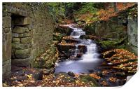Lumsdale Waterfalls and Mill , Print