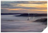 Inversion Sunrise in the Hope Valley , Print