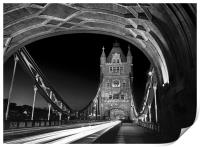 Tower Bridge London at Night , Print