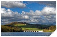 Clouds gathering over Ladybower, Print