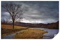 Rydal Water in Winter                             , Print
