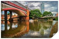 Castlefield and Beetham Tower, Manchester         , Print