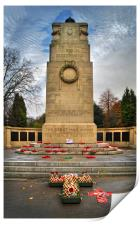 War Memorial,Clifton Park,Rotherham               , Print