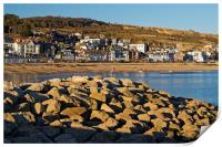 Lyme Regis from North Wall                      , Print