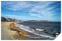 Lyme Regis Beach and Jurassic Coastline           , Print