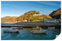 Lynmouth Harbour                         , Print