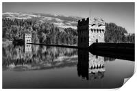Derwent Dam and Reservoir in Mono                 , Print