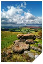 Hope Valley from Stanage Edge                     , Print