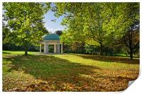 Clifton Park Bandstand in Rotherham               , Print