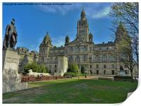 CITY CHAMBERS GEORGE SQUARE GLASGOW, Print